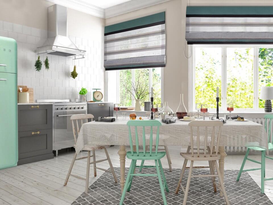 Jadalnia w stylu retro – pastelowe szaleństwo w twoim domu!