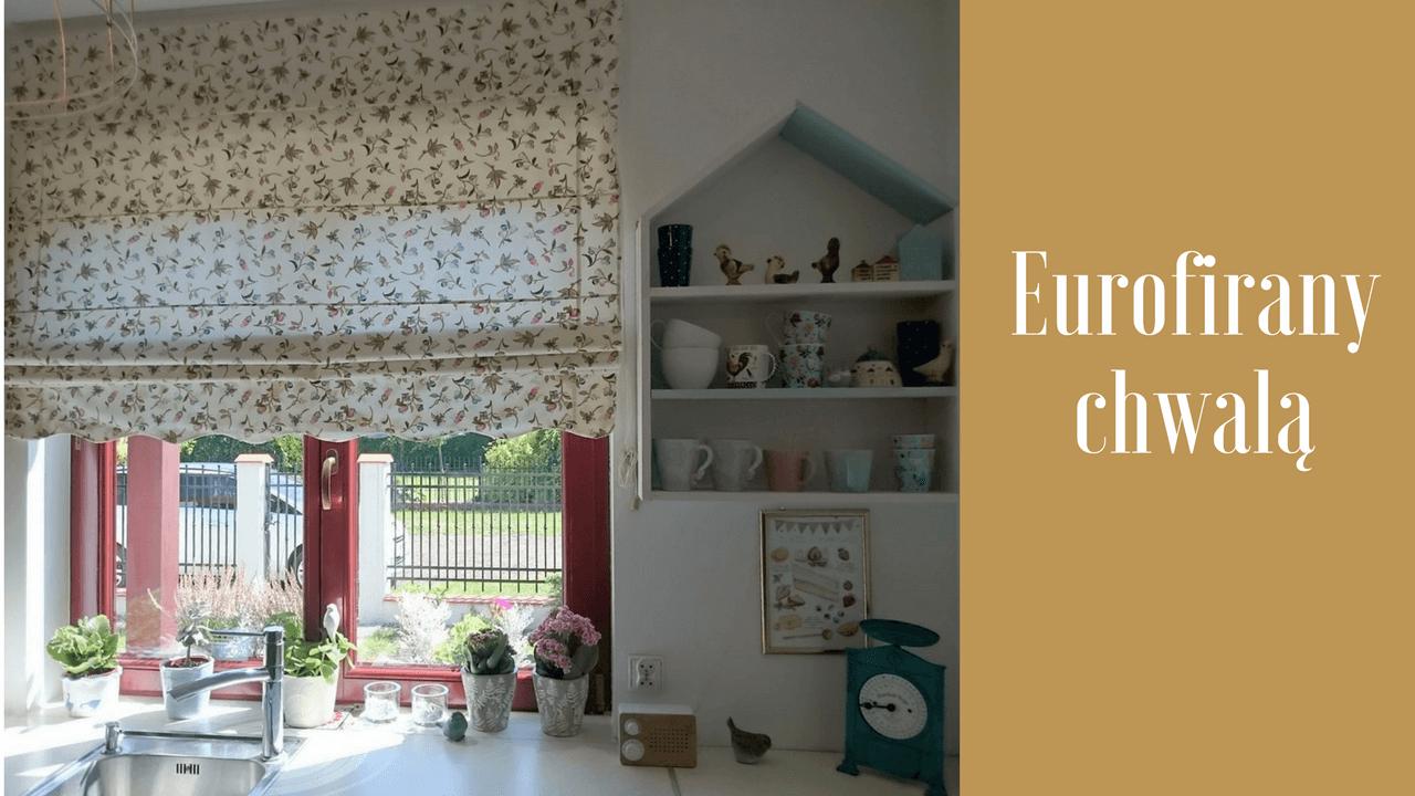 Eurofirany chwalą: styl romantyczny dla kuchennego okna