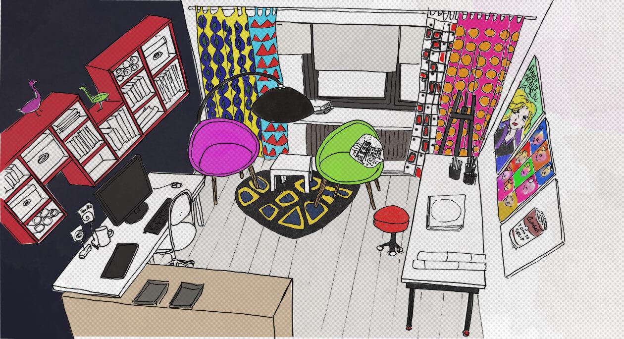 Styl pop-art: kolor, ciekawa forma i komiksowe dekoracje