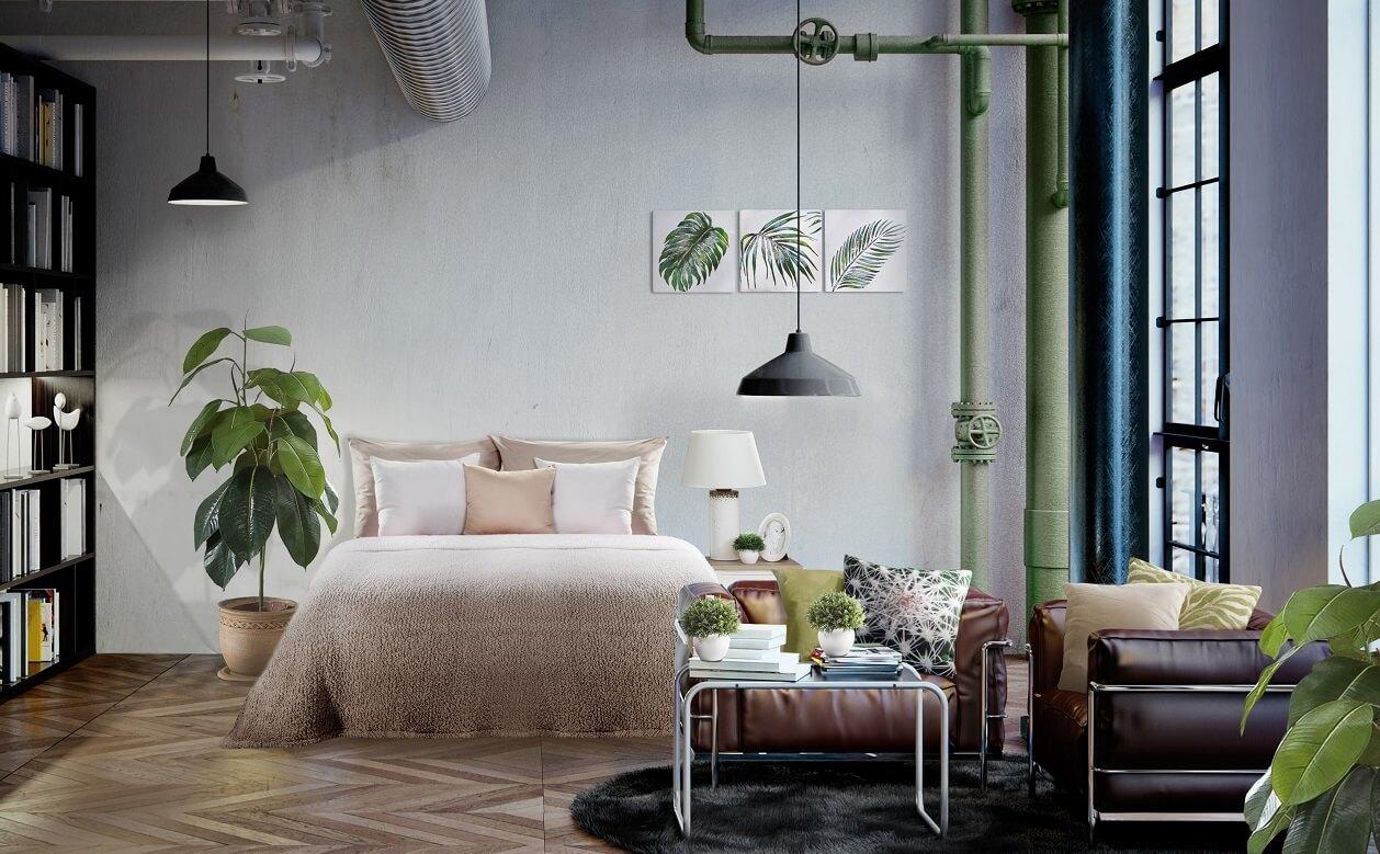 Zmiany w sypialni – zamień styl industrialny w styl organiczny