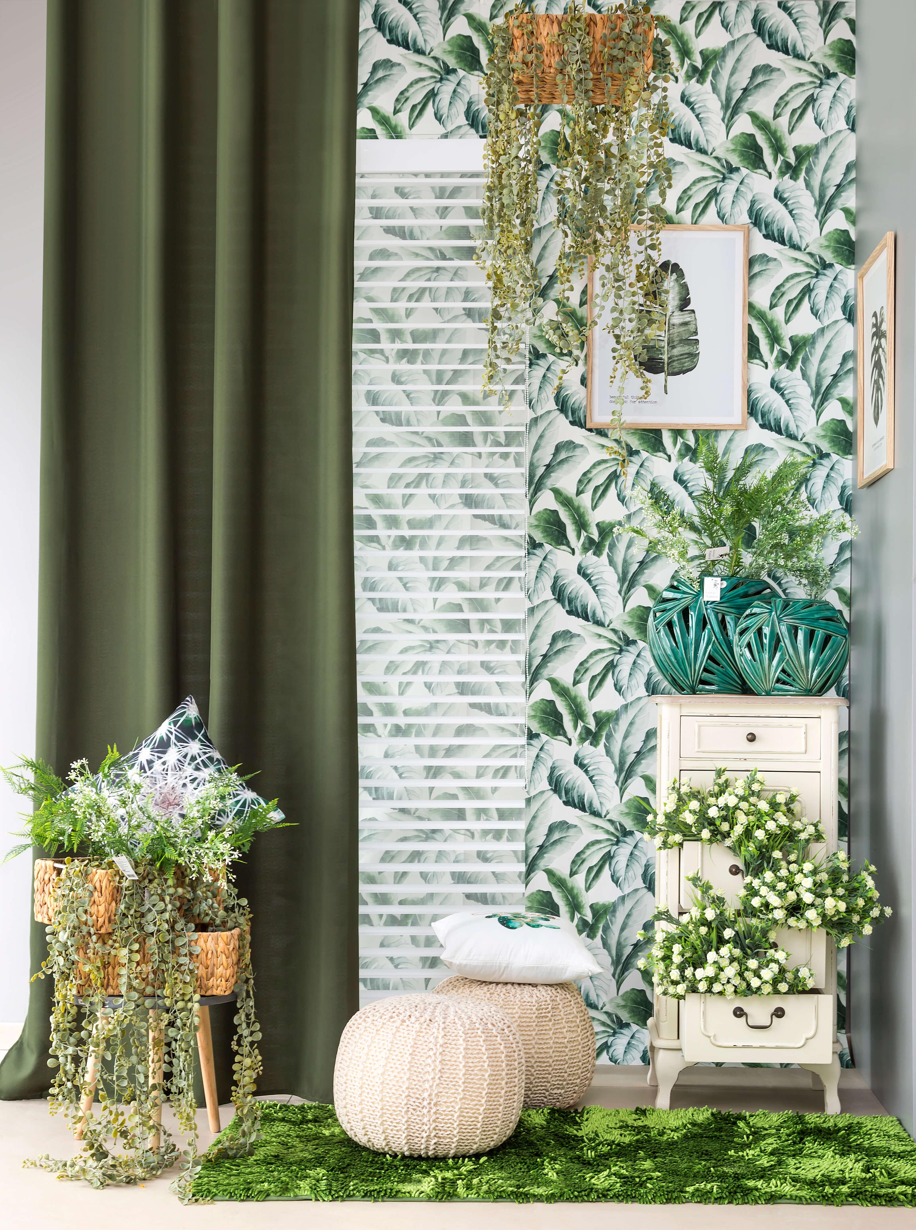 Urban jungle w Twoim domu - firany, zasłony w kwiaty - do salonu, kuchni czy sypialni