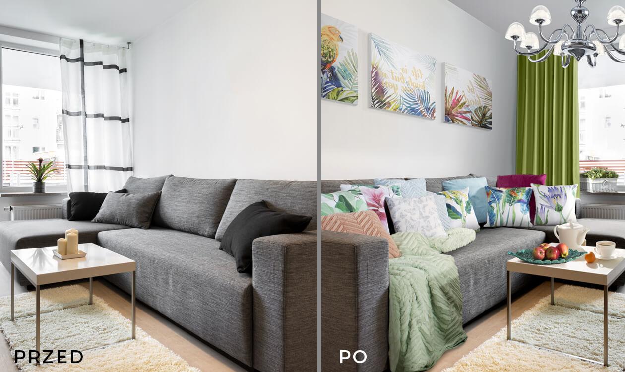 Metamorfoza salonu w bloku niskim kosztem – praktyczne porady i gotowe produkty