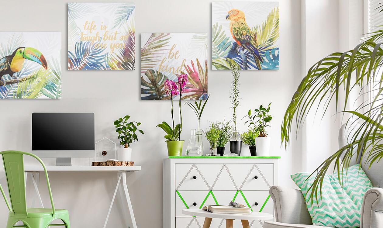Gdzie powiesić obraz w nowoczesnym salonie?