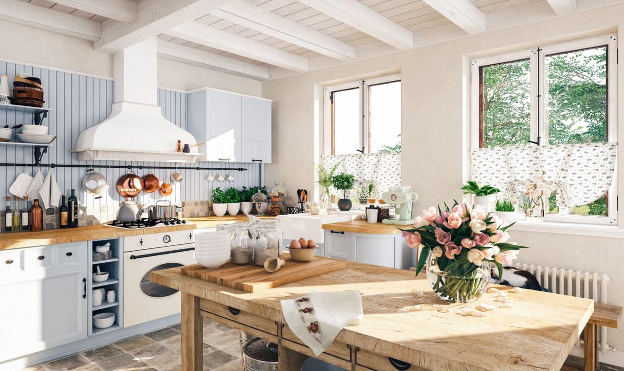 Kuchnia w stylu vintage – styl vintage – meble, wnętrza