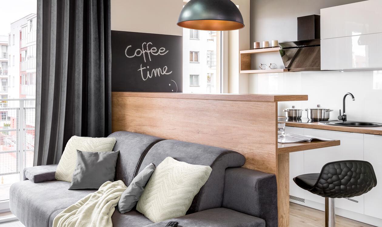 Jak urządzić salon z aneksem kuchennym 20mkw. – aranżacje, pomysły, inspiracje