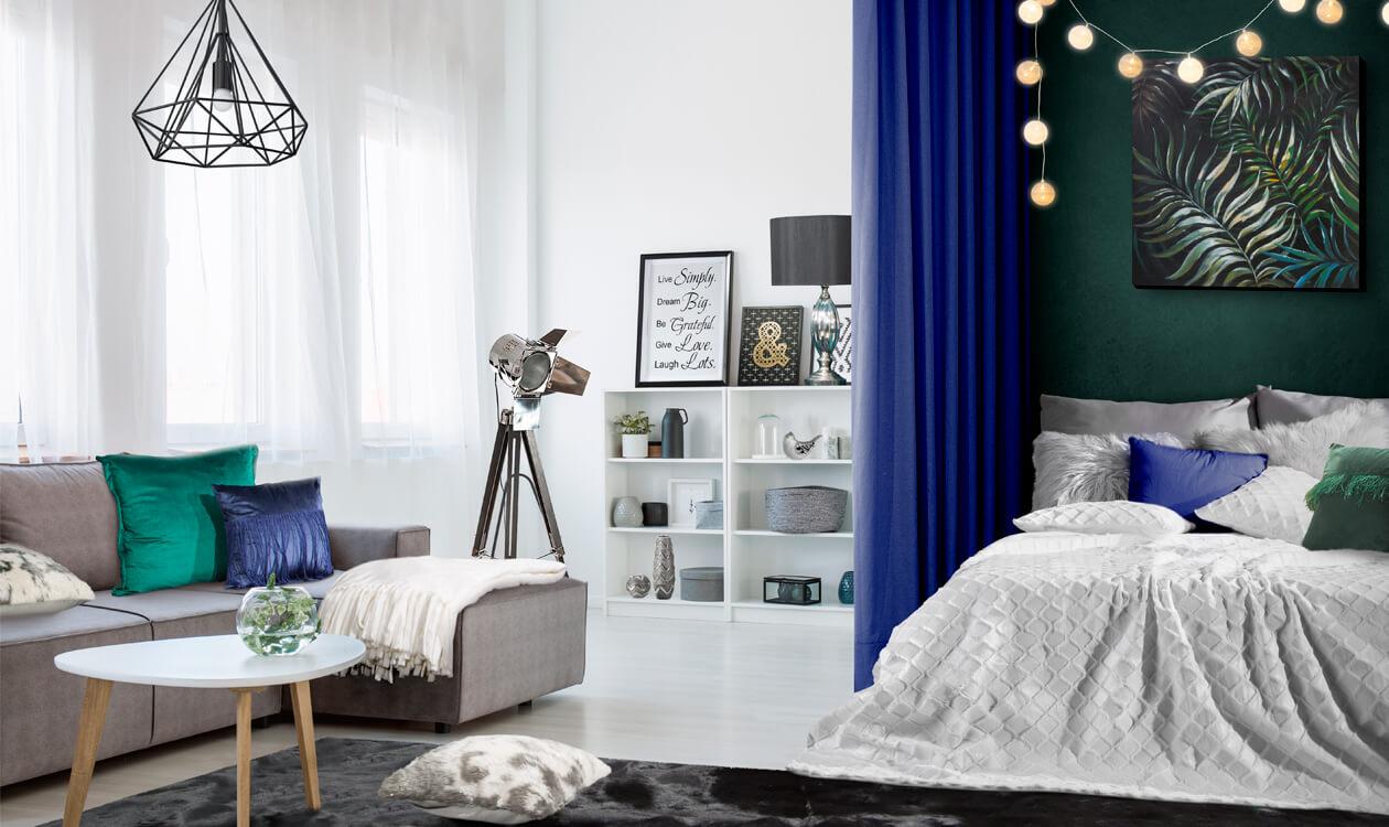 Jak urządzić pokój dzienny z sypialnią – strefy funkcjonalne w mieszkaniu.