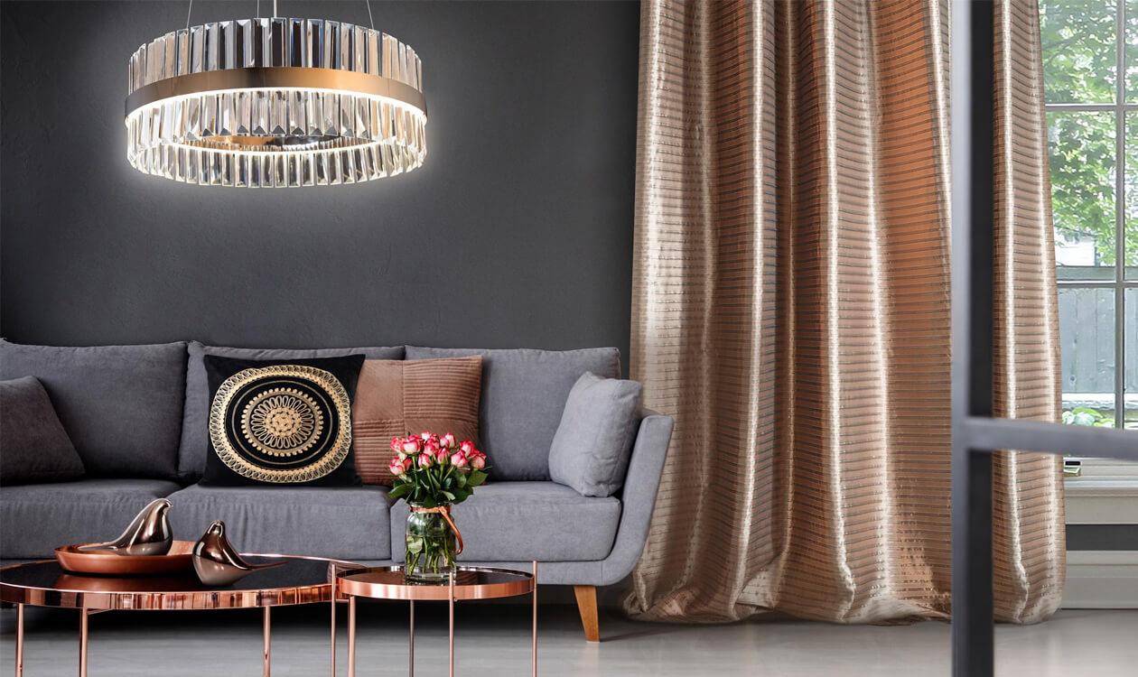 Miedź we wnętrzach: miedziane elementy dekoracji wnętrz.