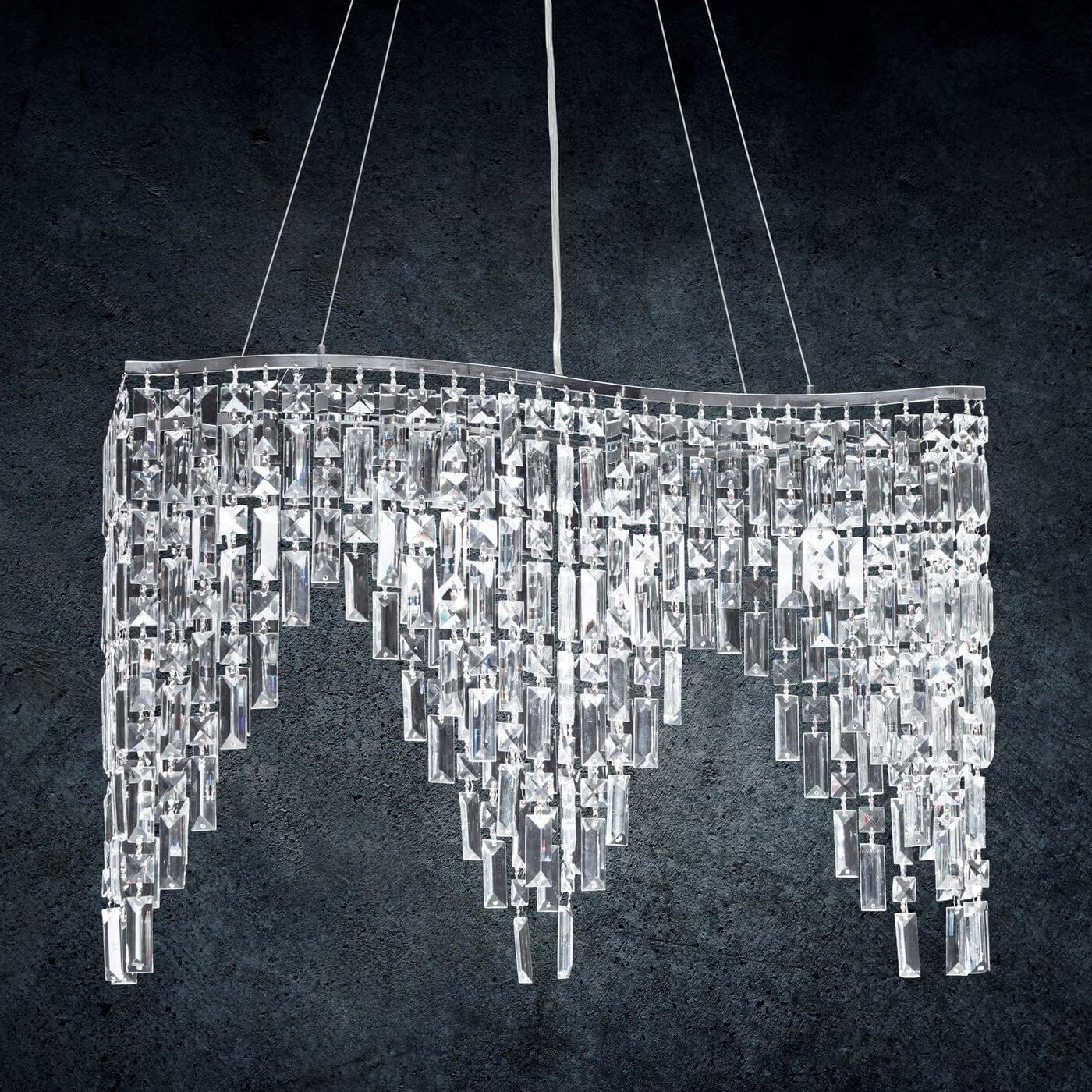 Szklana lampa do salonu eurofirany