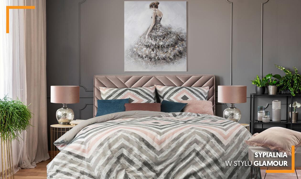 Kup aranżację: Sypialnia w stylu glamour. Dekorator poleca.