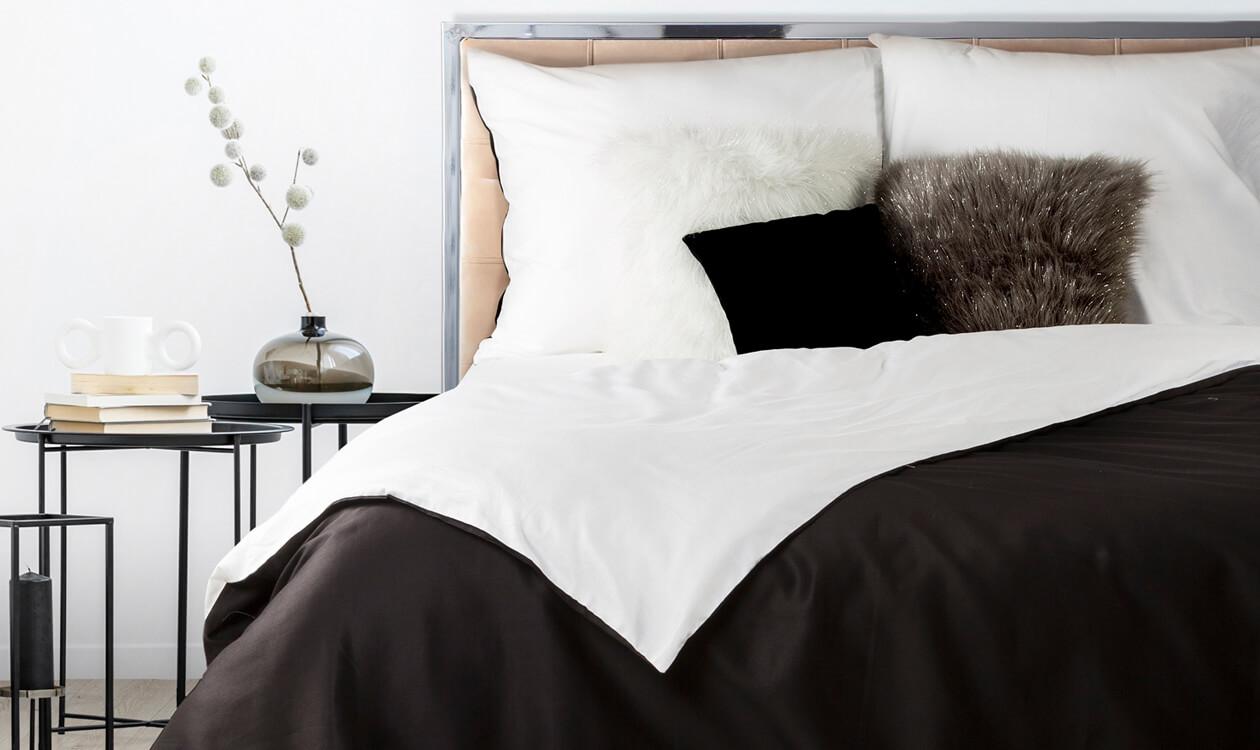 Pościel czarno-biała – efektowny wystrój Twojej sypialni