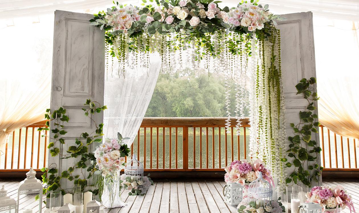 Ozdoby i dekoracje na ślub w stylu rustykalnym.