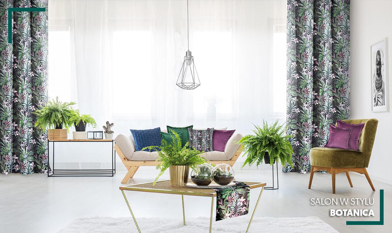 Kup aranżację: Salon w stylu botanica