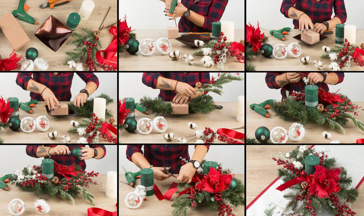 Jak zrobić stroik świąteczny, bożonarodzeniowy 2019