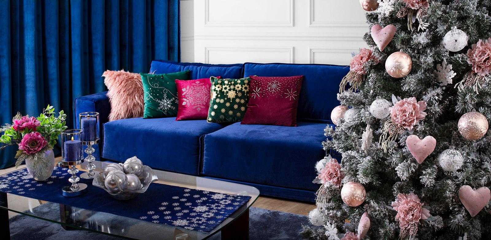 Kup aranżację salonu w stylu Bożonarodzeniowym