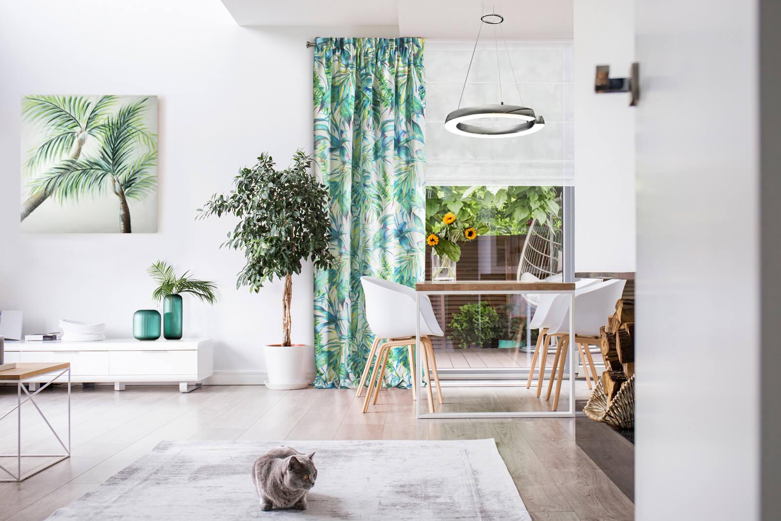 Niech się zazieleni – wiosenna, gotowa aranżacja Twojego salonu. Dekoracje wiosenne w Twoim domu.