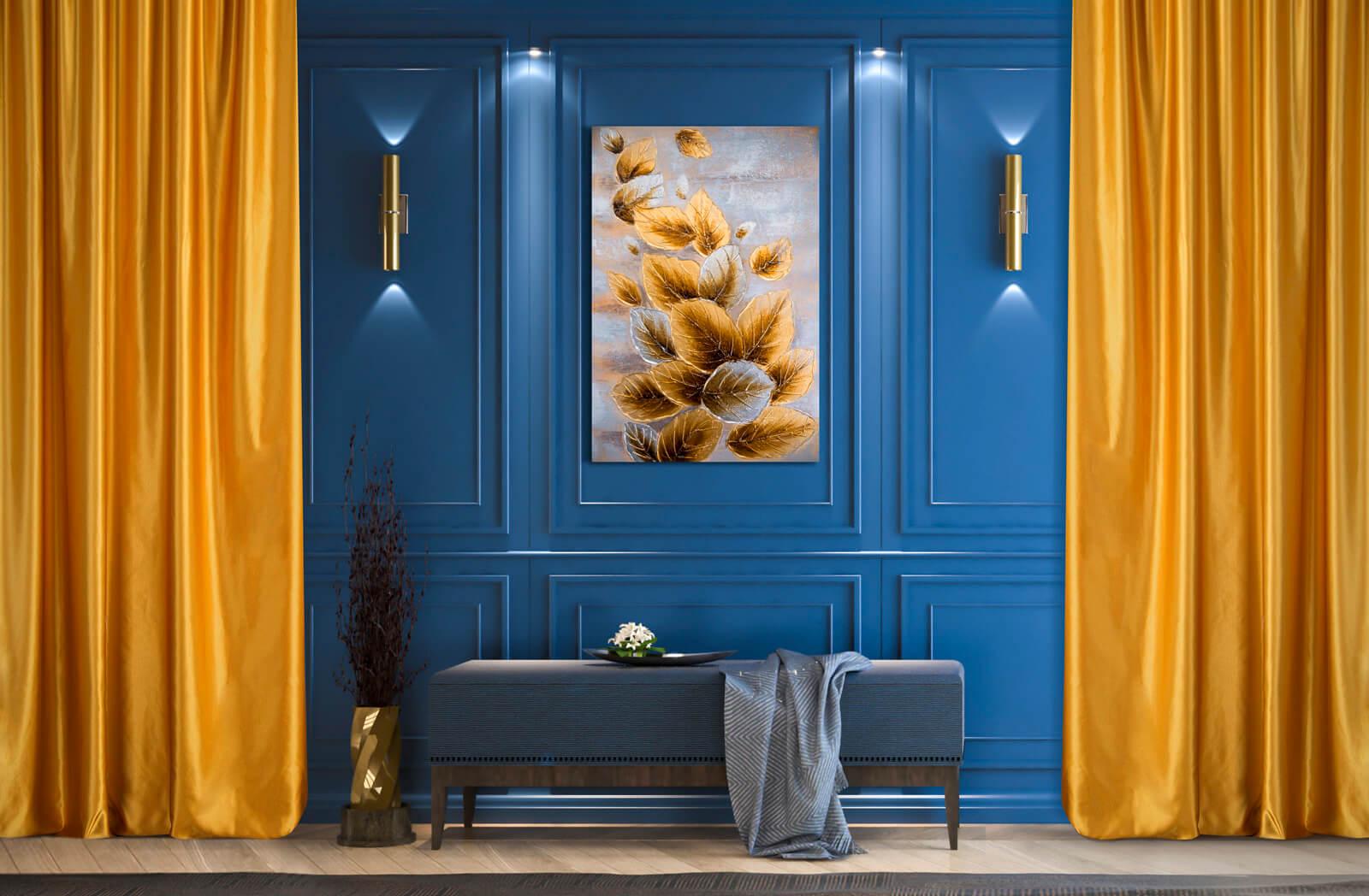 Aranżacja wnętrza – jaki kolor pasuje do niebieskiego?