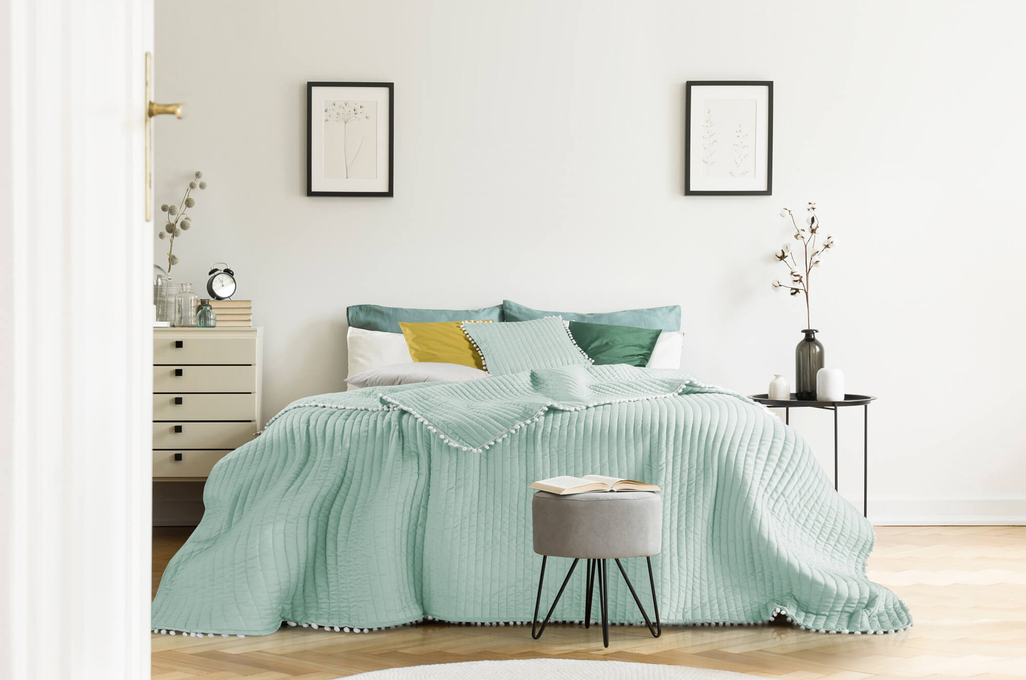 aranżacja pastelowej sypialni