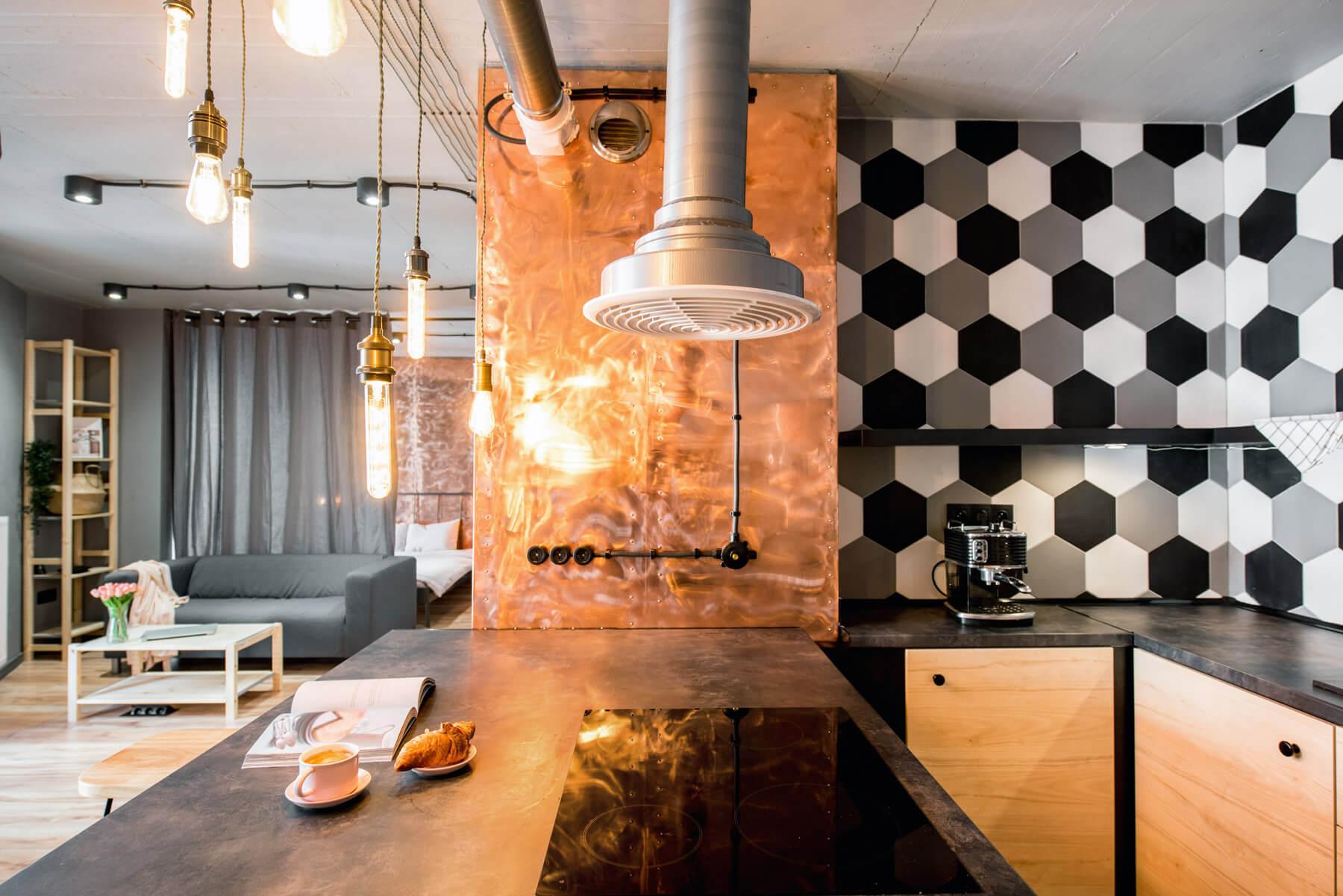 kuchnia w stylu industrialnych