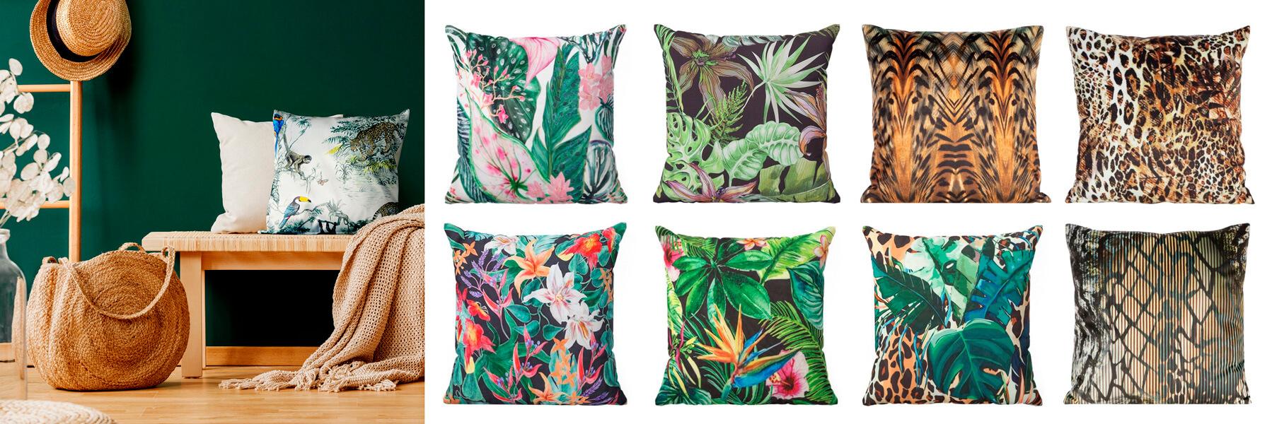 poduszki we wzory roslinne