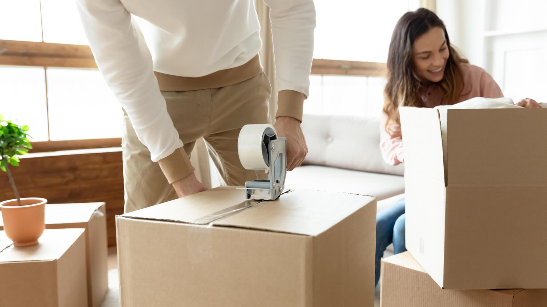 pakowanie swoich rzeczy