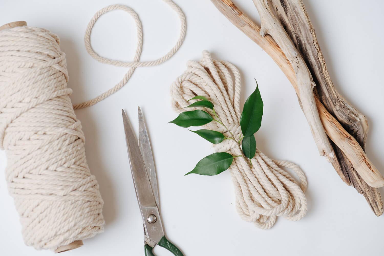jak zrobić kwietnik ze sznurka