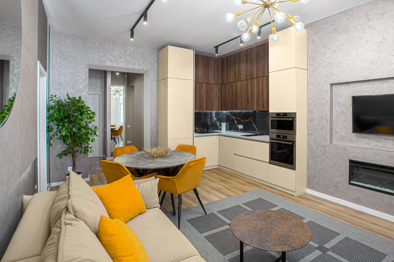 Waniliowe meble kuchenne jaki kolor ścian