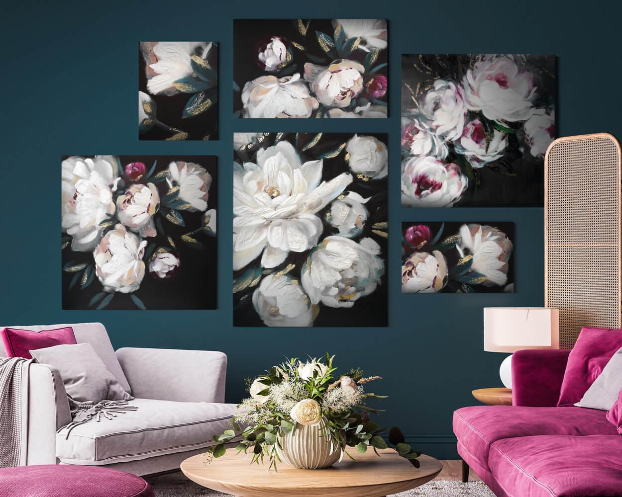 Jak ułożyć ramki ze zdjęciami na ścianie?