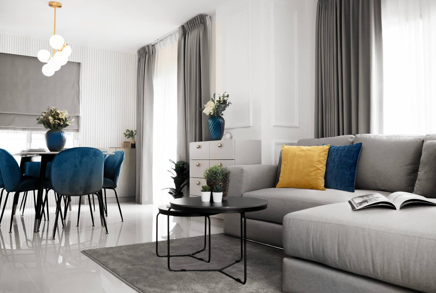 Jakie kolory pasują do szarej kanapy?